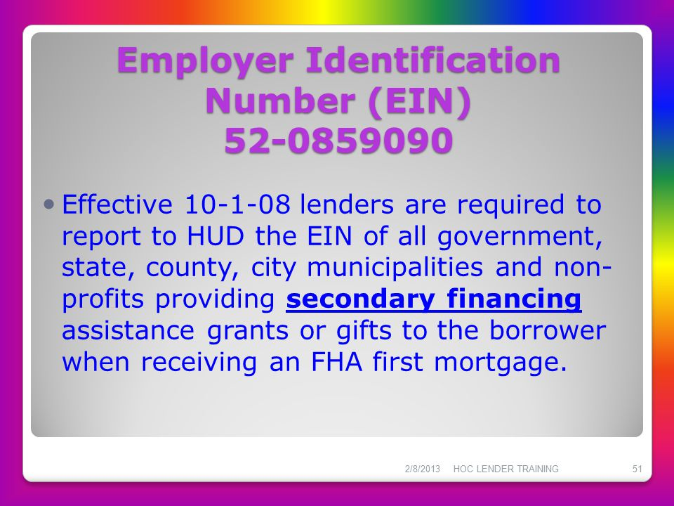 Employer Identification Number (EIN) 52-0859090