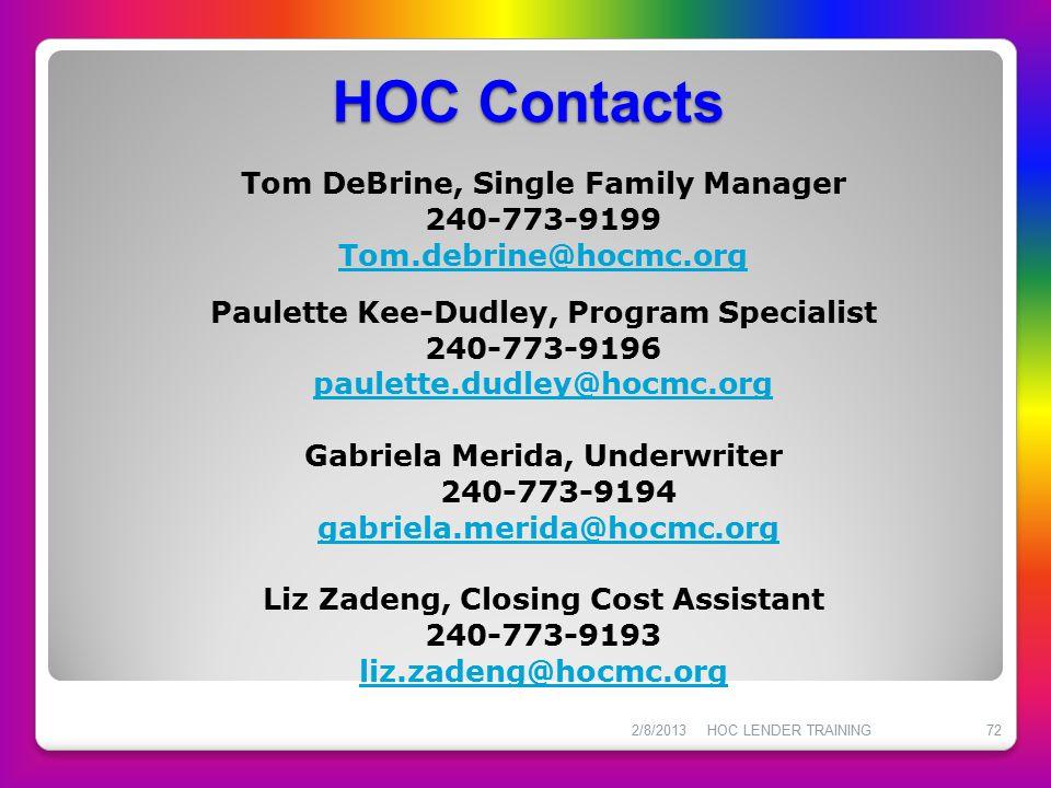 HOC Contacts