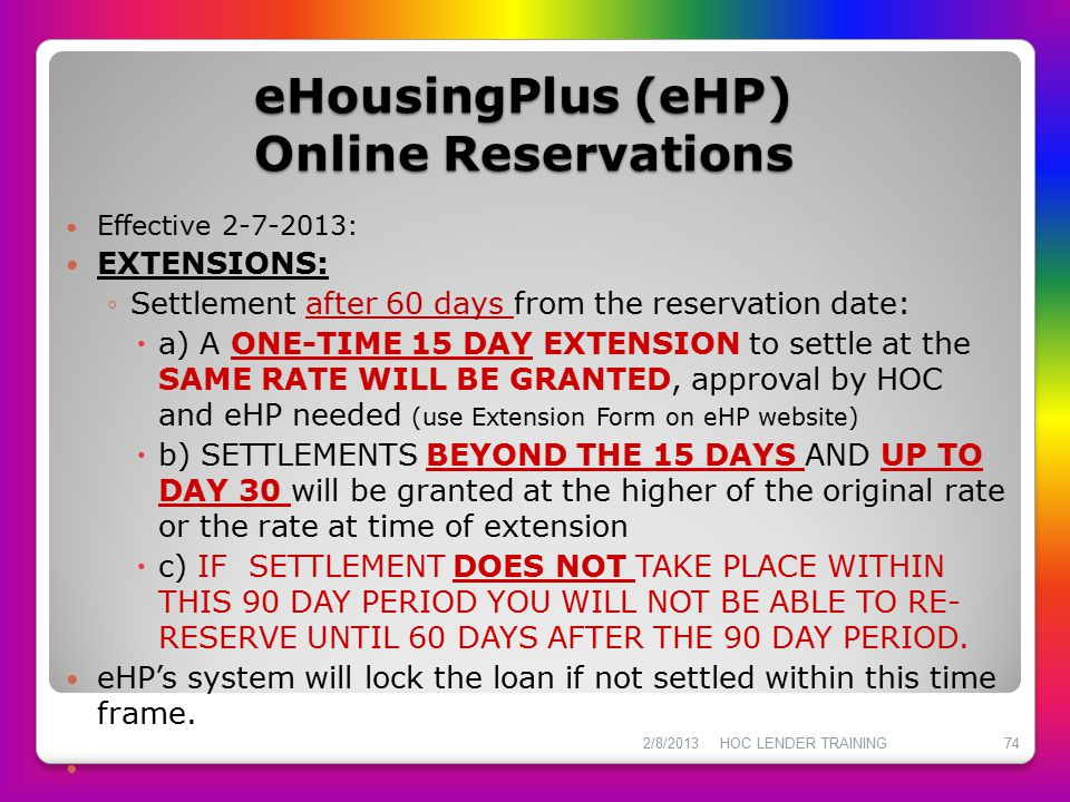 eHousingPlus (eHP) Online Reservations
