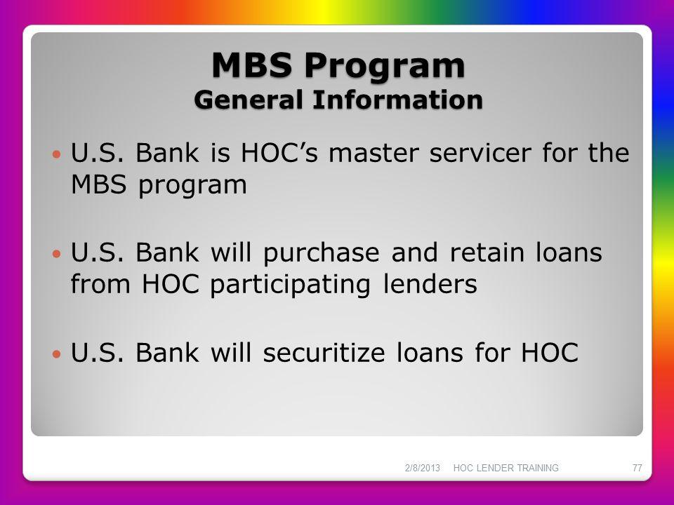 MBS Program General Information