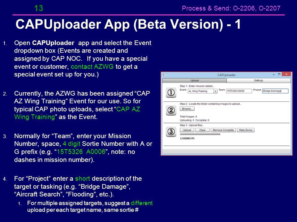 CAPUploader App (Beta Version) - 1