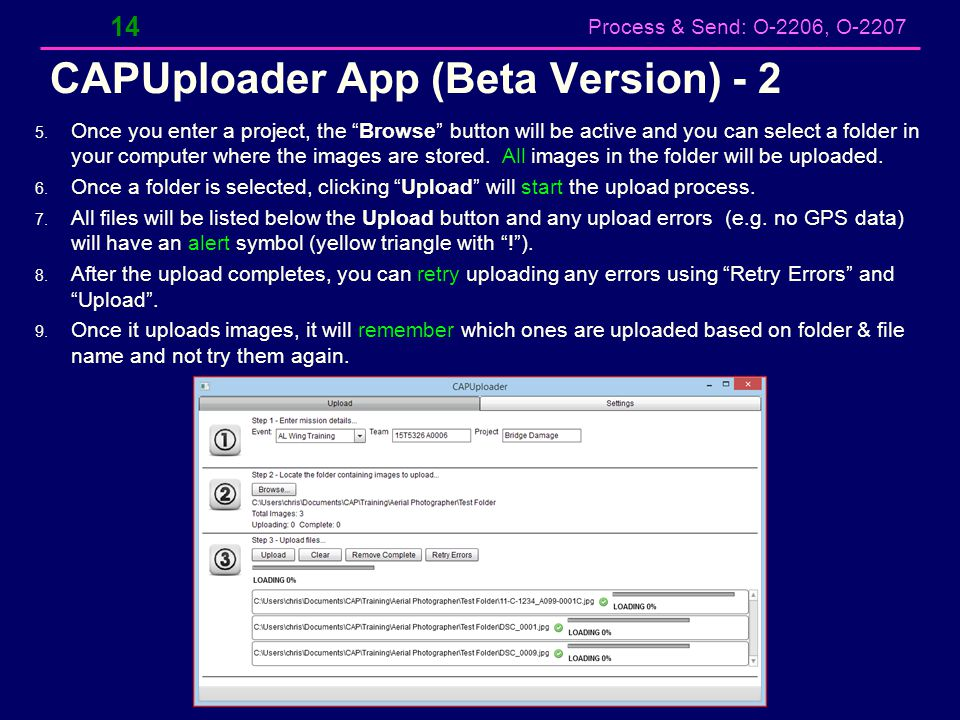 CAPUploader App (Beta Version) - 2