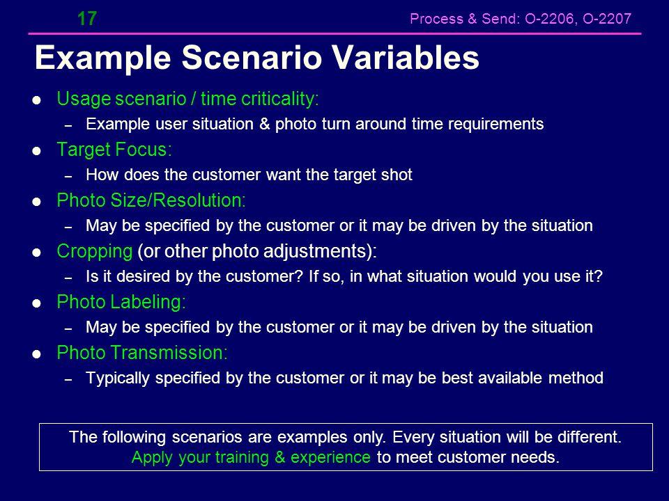 Example Scenario Variables