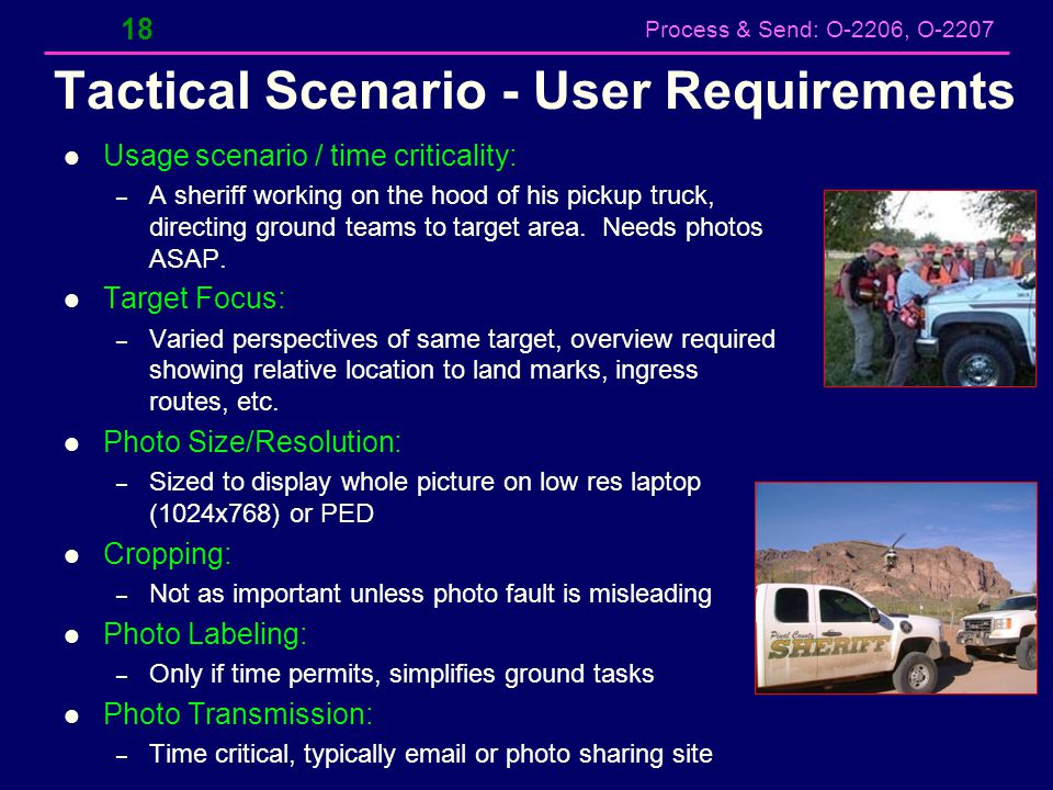 Tactical Scenario - User Requirements
