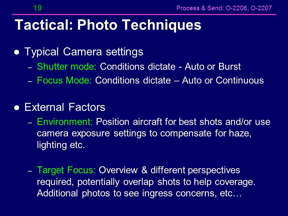 Tactical: Photo Techniques
