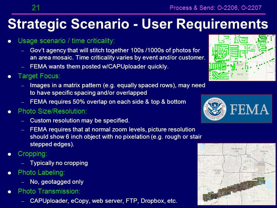 Strategic Scenario - User Requirements