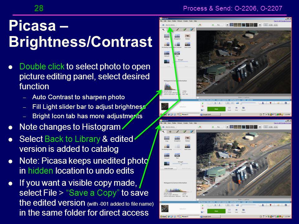 Picasa – Brightness/Contrast