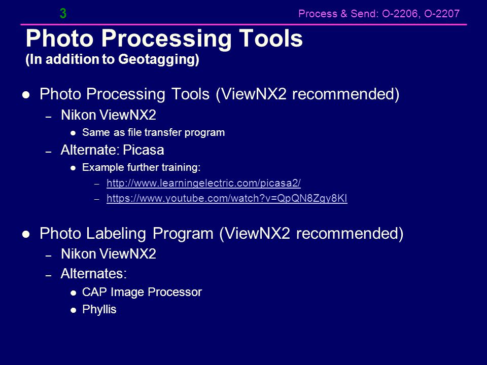 Photo Processing Tools (In addition to Geotagging)