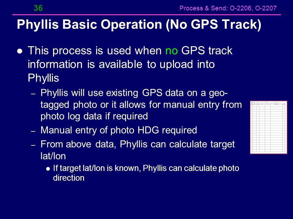 Phyllis Basic Operation (No GPS Track)