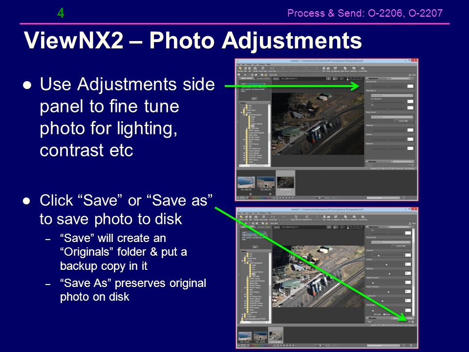 ViewNX2 – Photo Adjustments