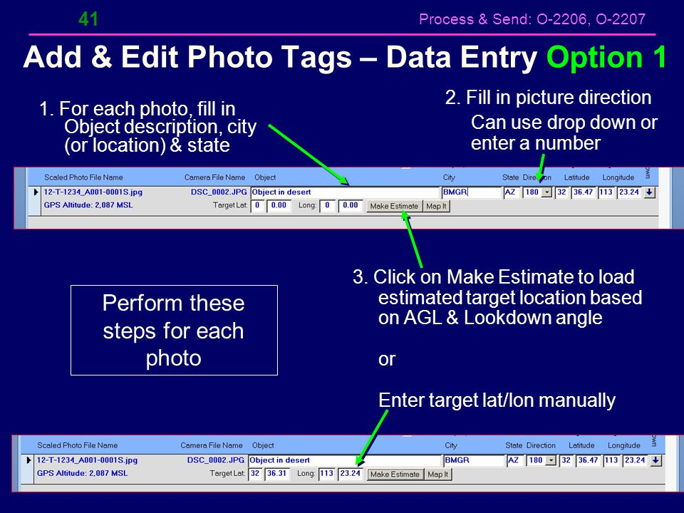 Add & Edit Photo Tags – Data Entry Option 1