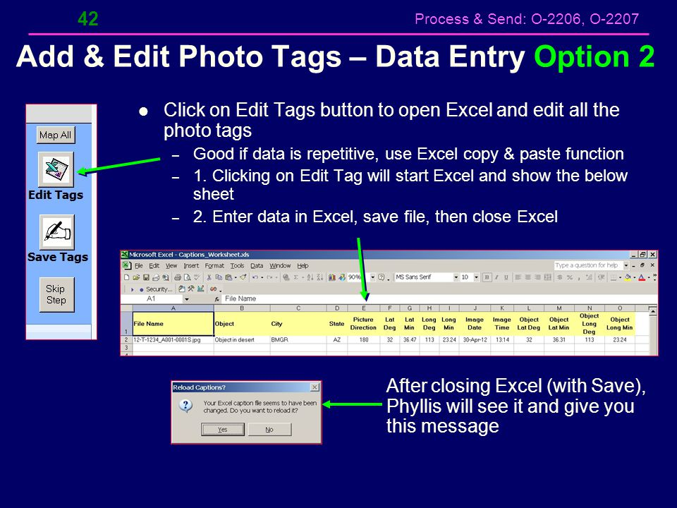 Add & Edit Photo Tags – Data Entry Option 2