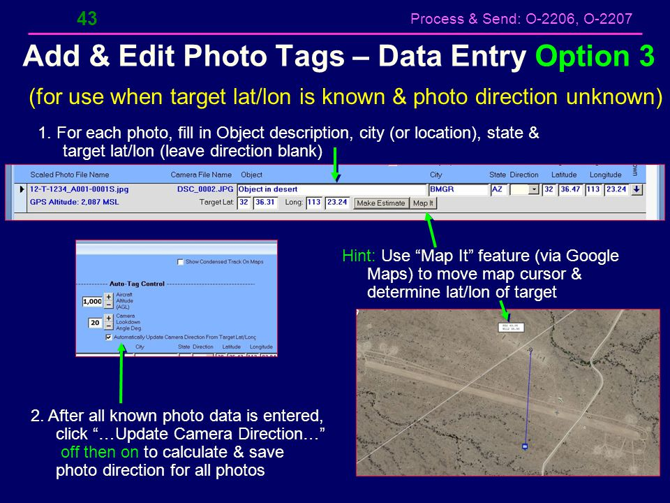 Add & Edit Photo Tags – Data Entry Option 3