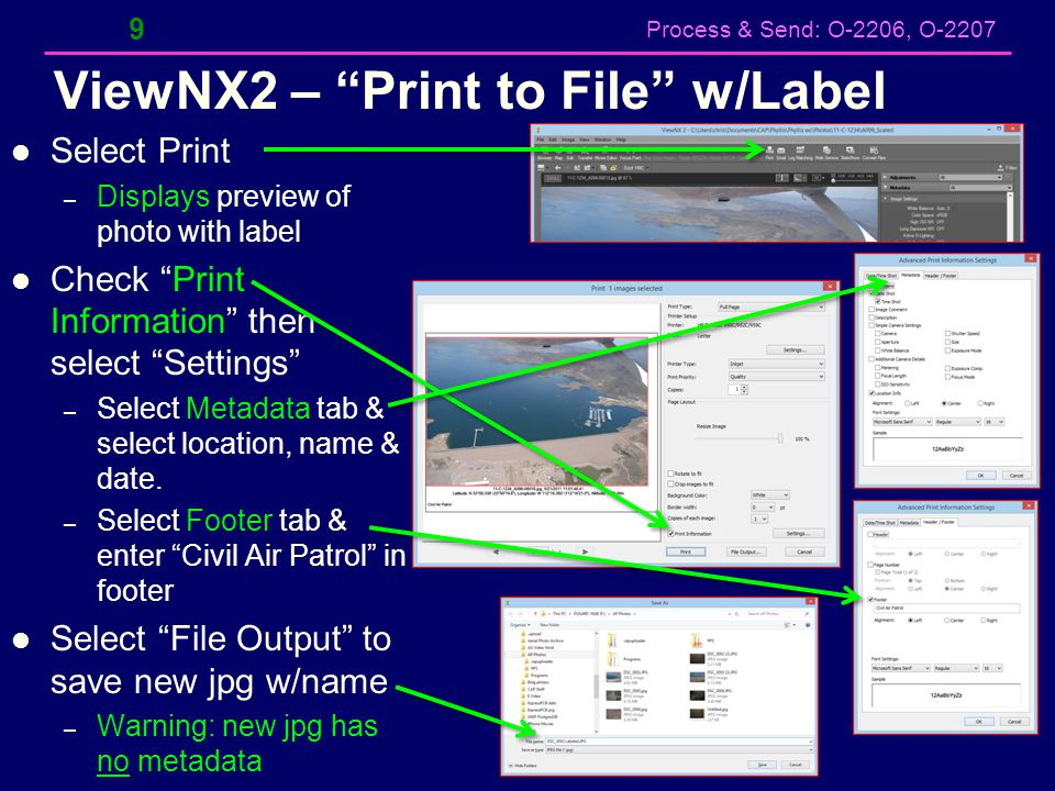 ViewNX2 – Print to File w/Label