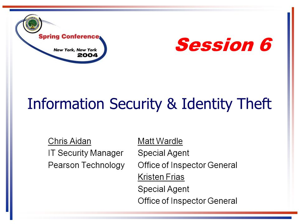 Information Security & Identity Theft
