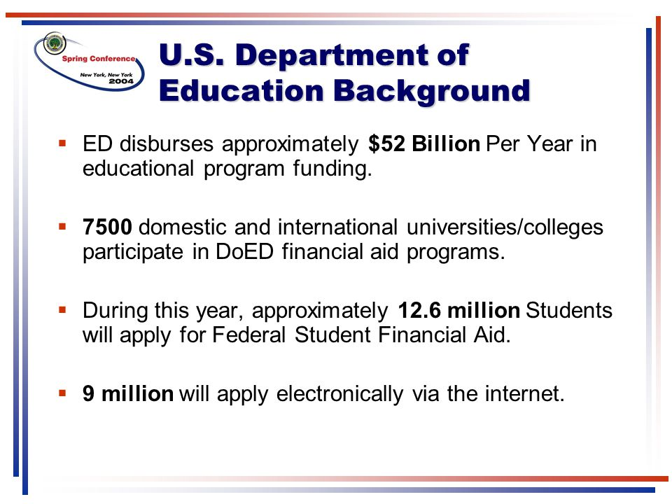 U.S. Department of Education Background