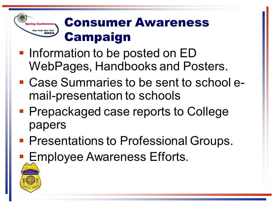 Consumer Awareness Campaign