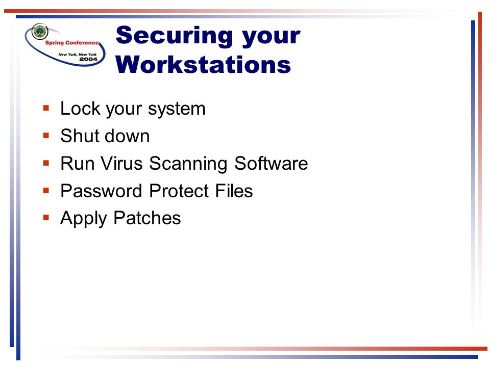 Securing your Workstations