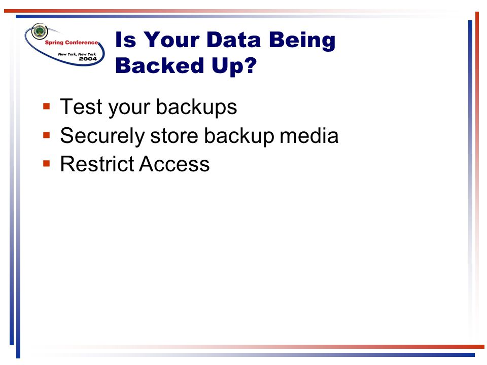 Is Your Data Being Backed Up