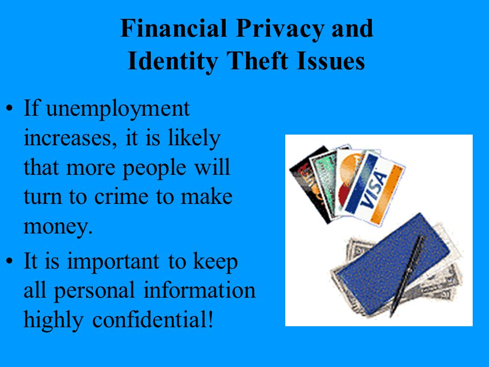 Financial Privacy and Identity Theft Issues