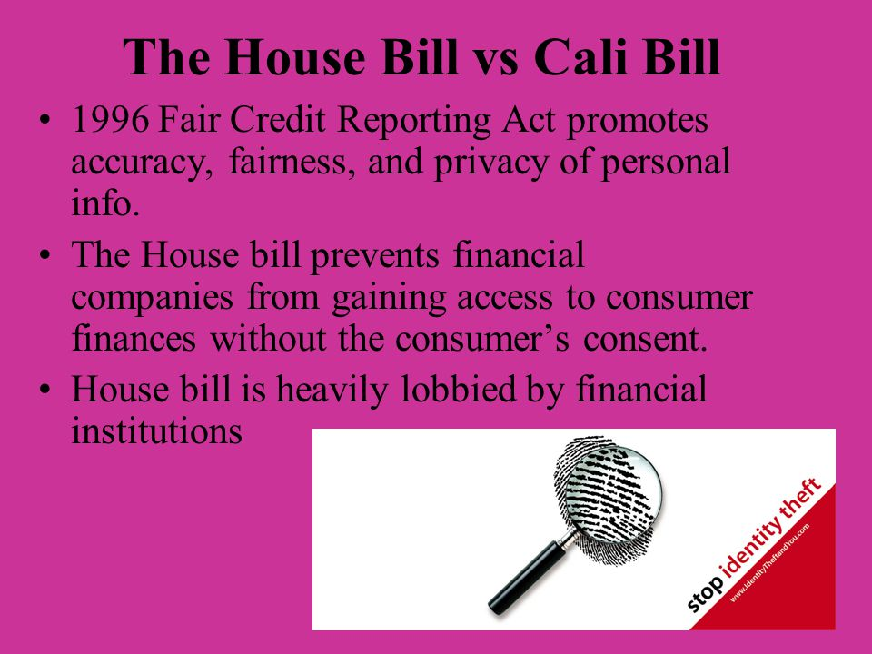 The House Bill vs Cali Bill