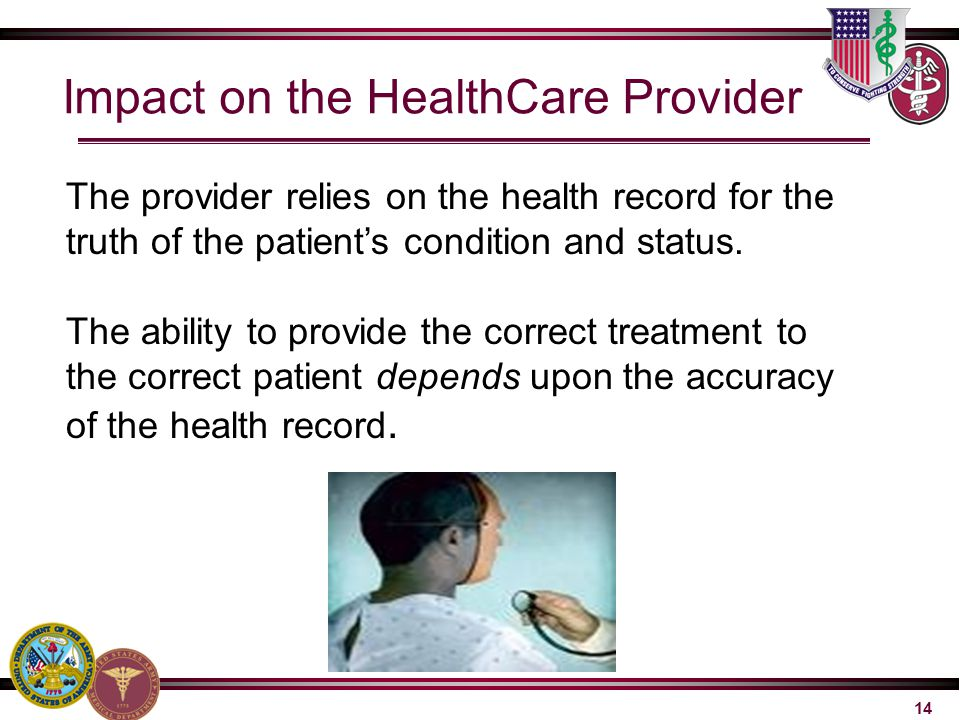 Impact on the HealthCare Provider