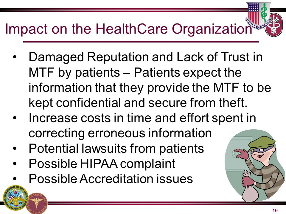 Impact on the HealthCare Organization