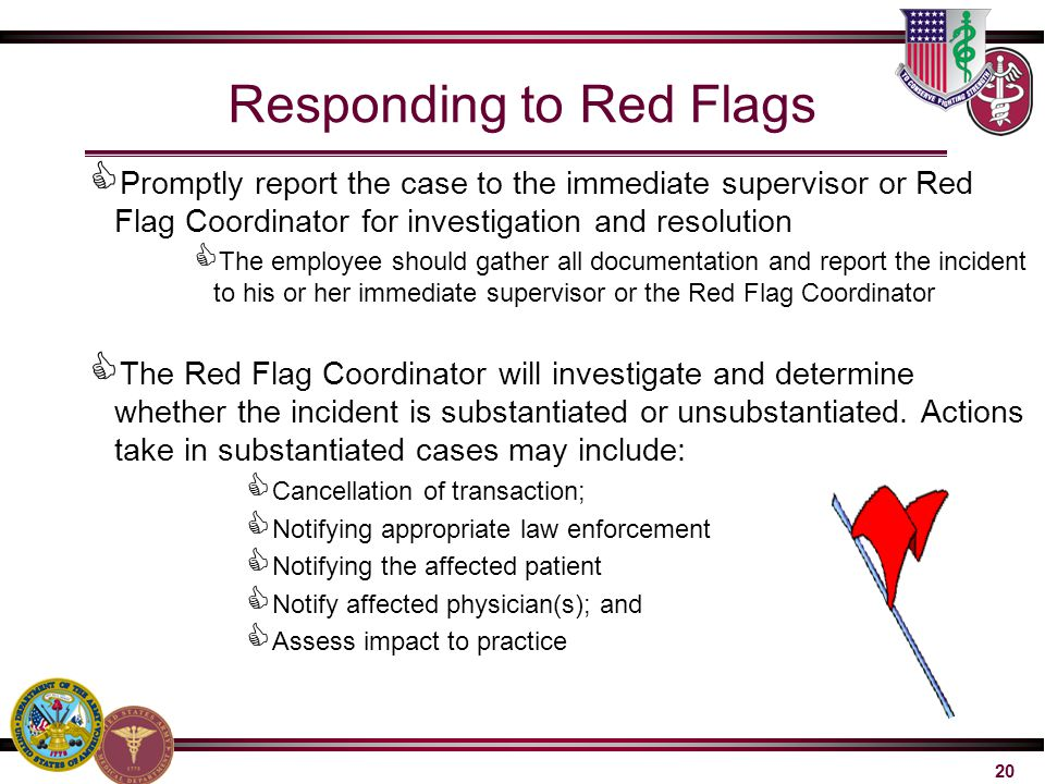 Responding to Red Flags
