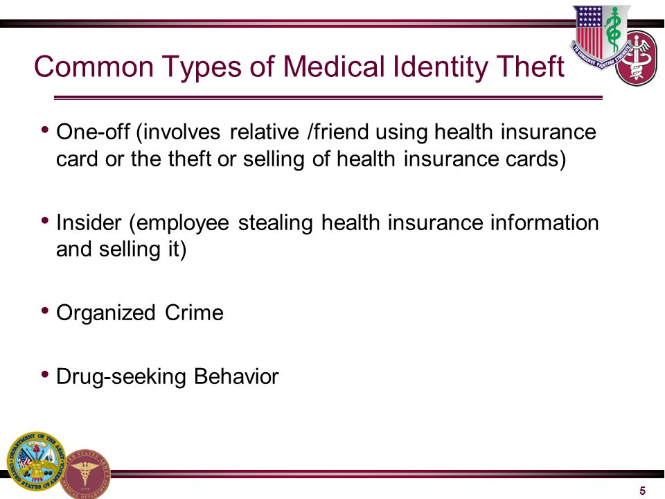Common Types of Medical Identity Theft