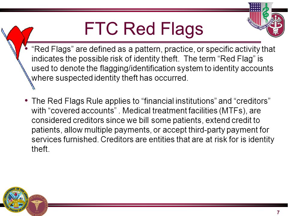 FTC Red Flags
