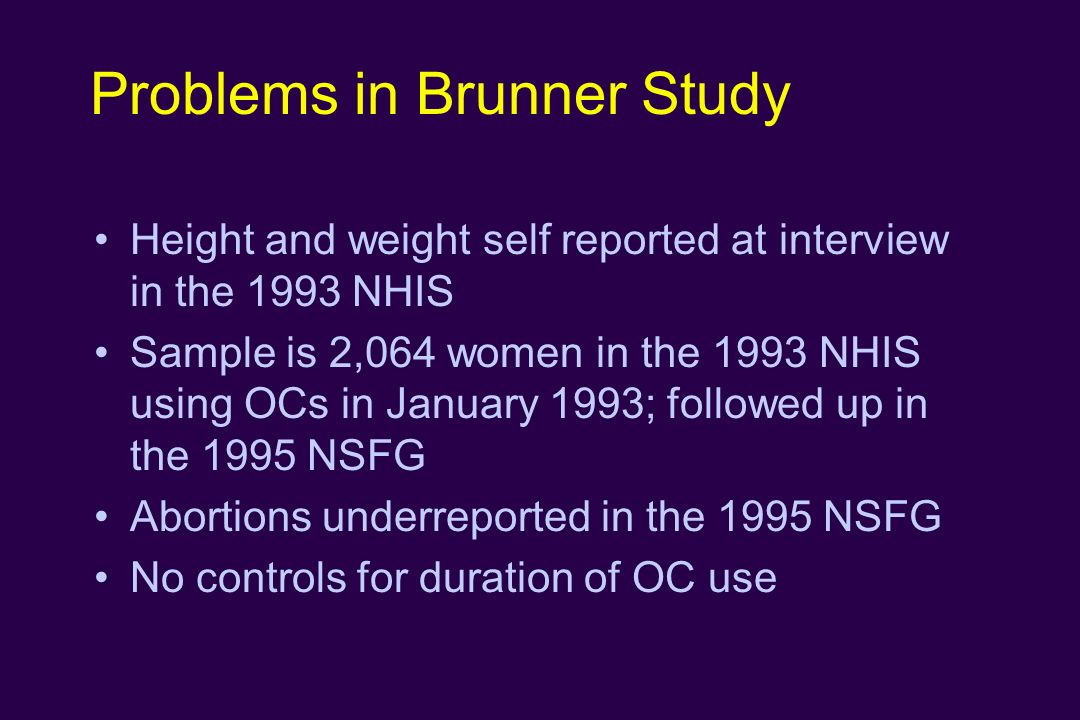 Problems in Brunner Study