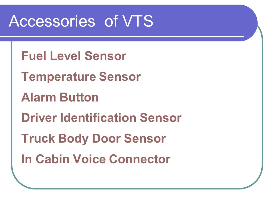 Accessories of VTS Fuel Level Sensor Temperature Sensor Alarm Button