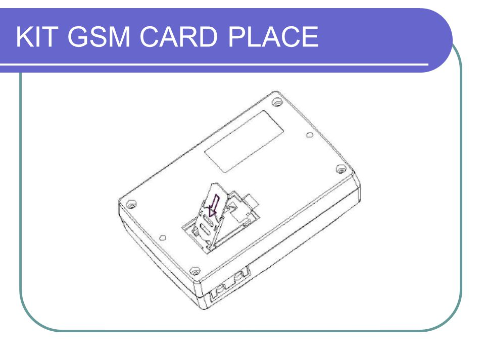KIT GSM CARD PLACE