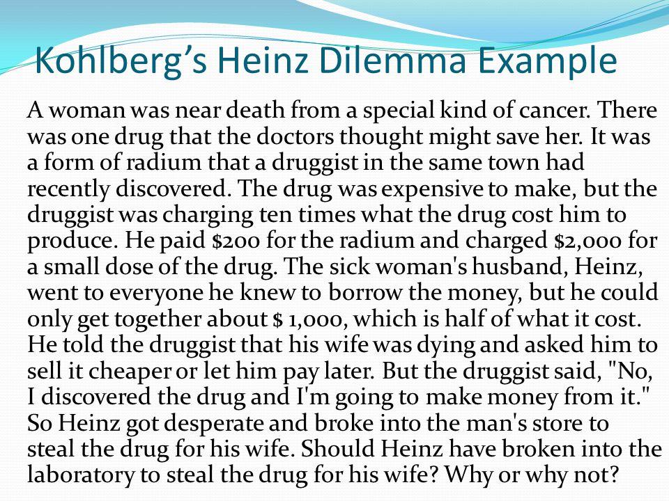 Kohlberg's Heinz Dilemma Example