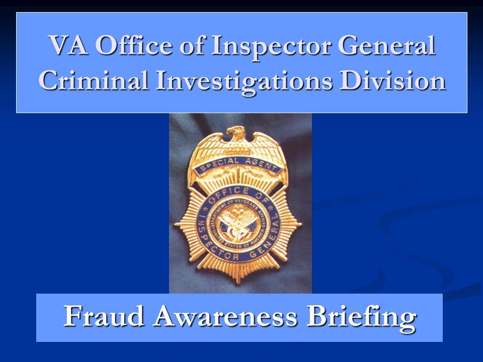 VA Office of Inspector General Criminal Investigations Division
