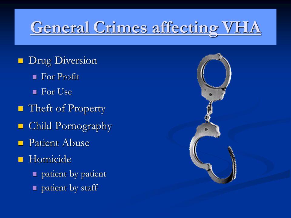 General Crimes affecting VHA