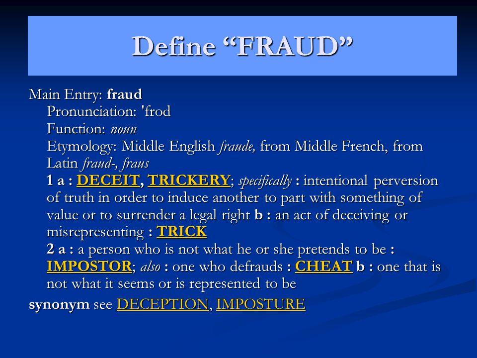 Define FRAUD