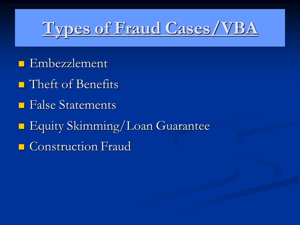 Types of Fraud Cases/VBA
