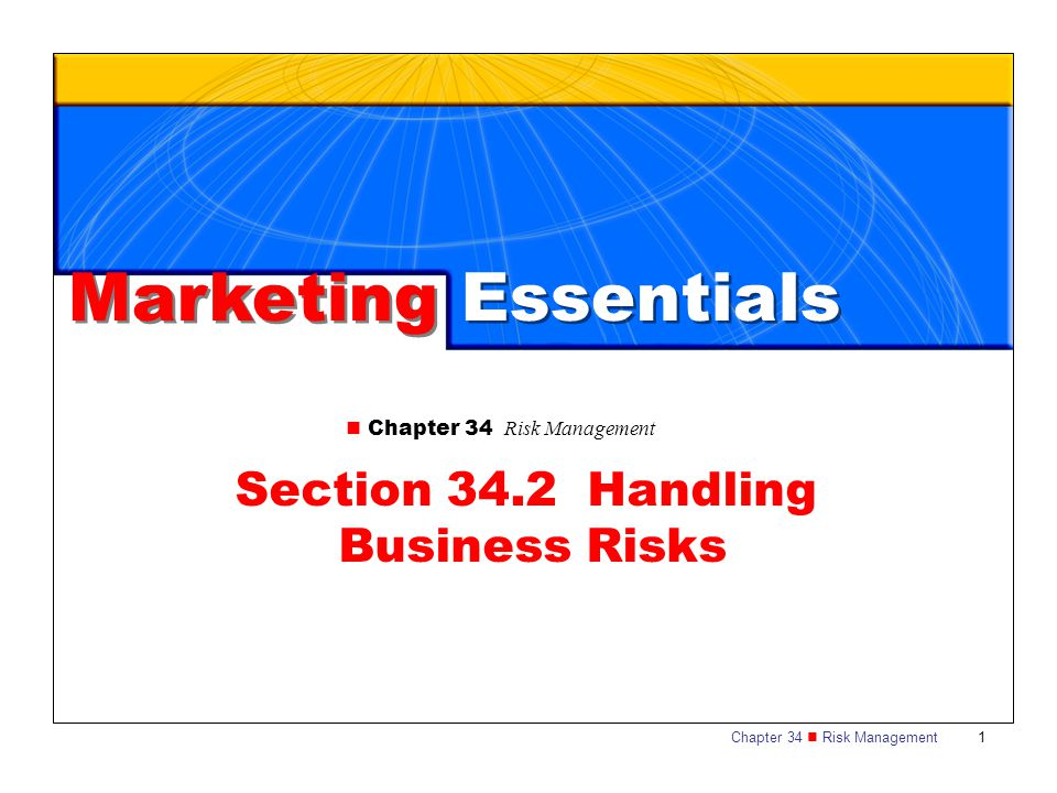 Section 34.2 Handling Business Risks