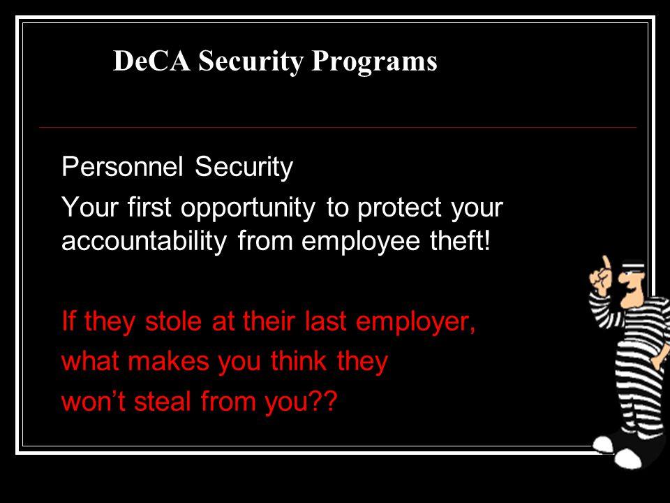 DeCA Security Programs