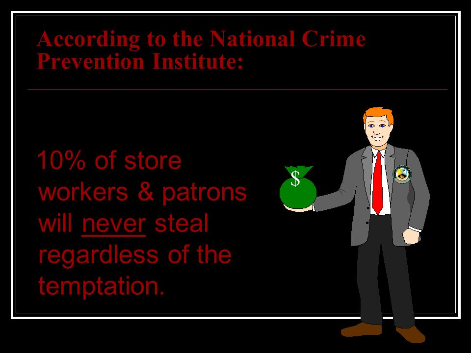 According to the National Crime Prevention Institute: