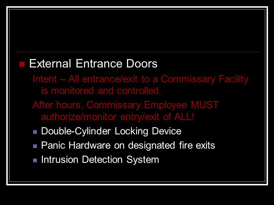 External Entrance Doors