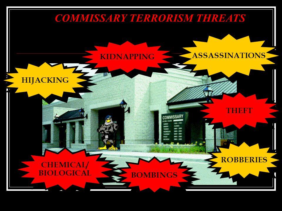 COMMISSARY TERRORISM THREATS
