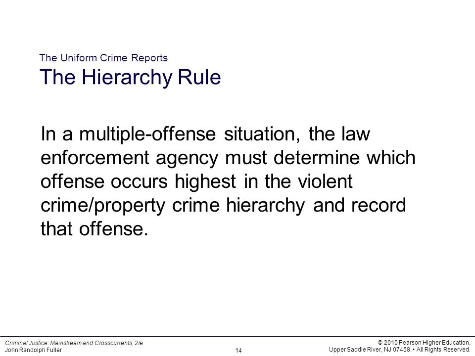 The Uniform Crime Reports The Hierarchy Rule