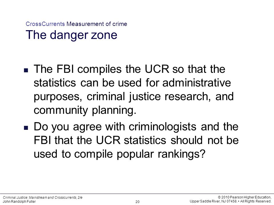 CrossCurrents Measurement of crime The danger zone