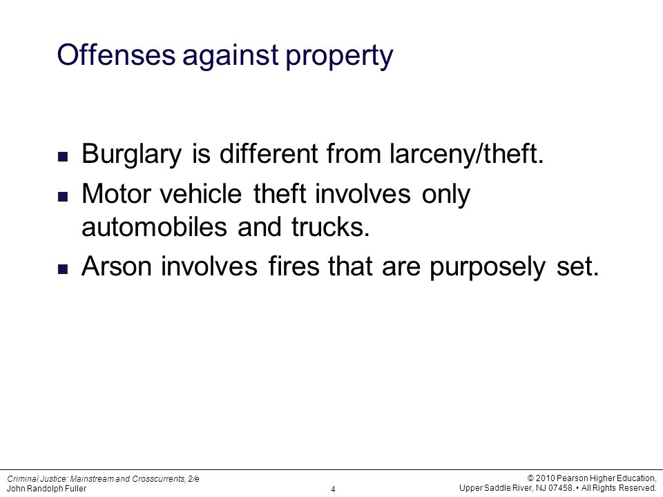 Offenses against property