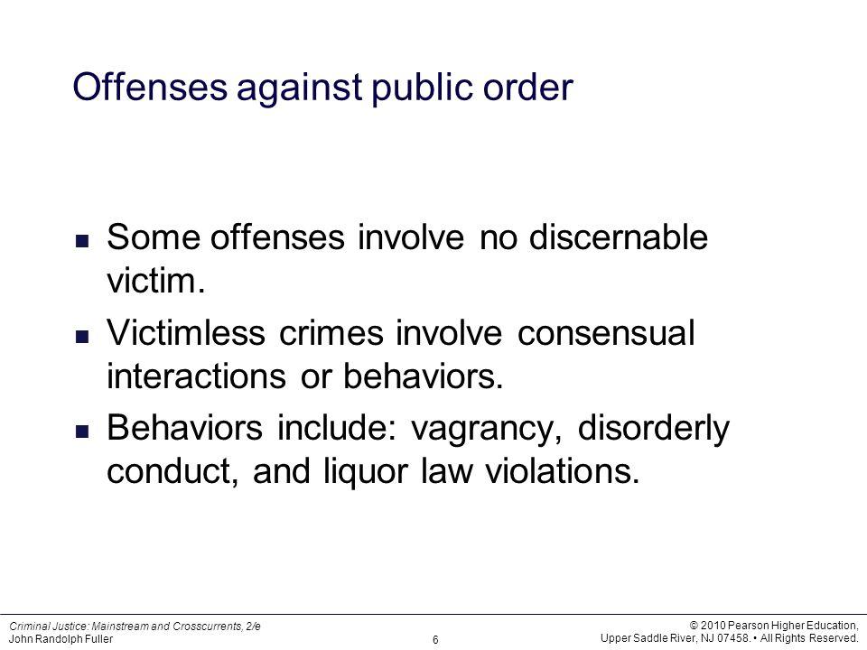 Offenses against public order