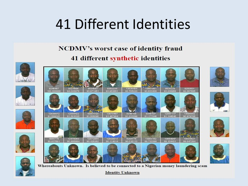 41 Different Identities
