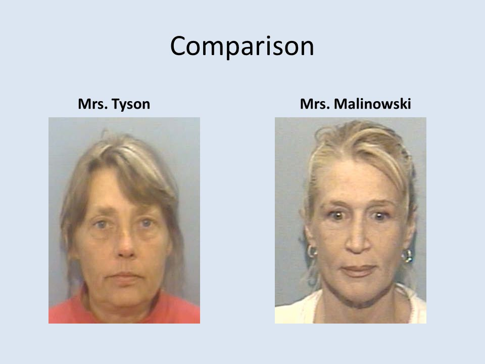 Comparison Mrs. Tyson Mrs. Malinowski