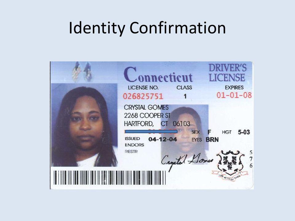 Identity Confirmation